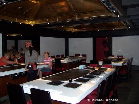 Inside Teppan Edo restaurant