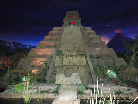 Mayan pyramid from ride