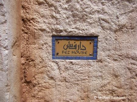 Fez House sign