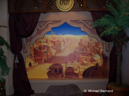 Inside the character greeting area