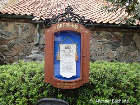 Restaurant Akershus sign