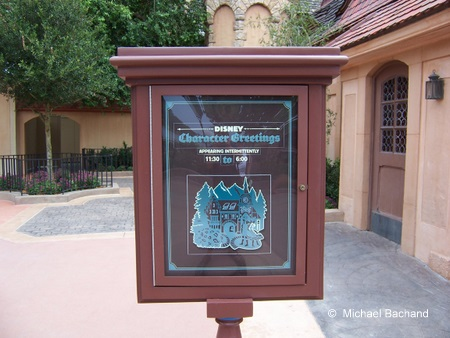 Character Greeting sign