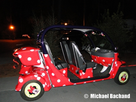 Minnie Golf Cart