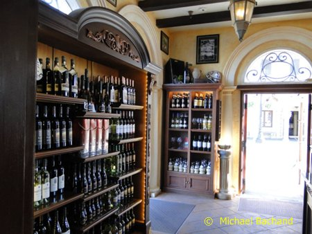 Inside the wine shop