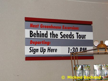 Tour schedule sign