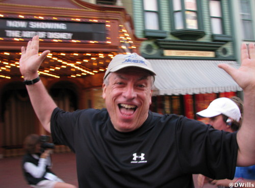 Mike on Main Street in the Magic Kingdom