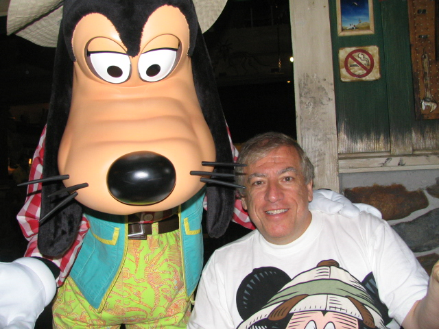 Mike and Goofy