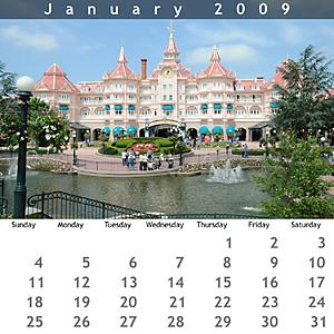 January 2009 Jewel Case Calendar