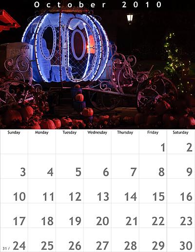 October 2010 8.5x11 Calendar