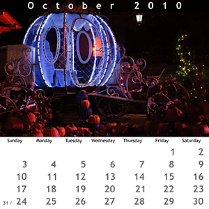 October 2010 Jewel Case Calendar