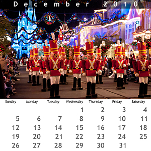 December 2010 Jewel Case Calendar