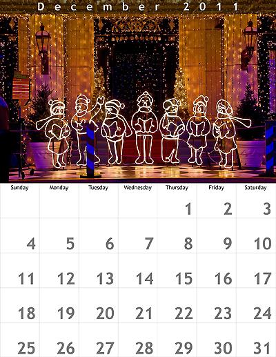 December 2011 8.5x11 Calendar