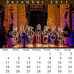 December 2011 Jewel Case Calendar