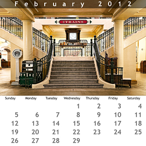 February 2012 Jewel Case Calendar