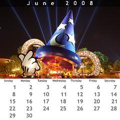June 2008 Jewel Case Calendar