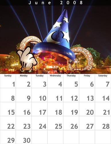 June 2008 8.5x11 Calendar