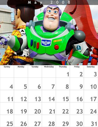 May 2008 8.5x11 Calendar