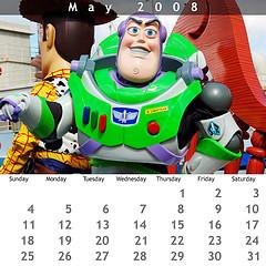 May 2008 Jewel Case Calendar