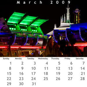 March 2009 Jewel Case Calendar