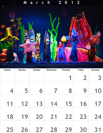 March 2012 8.5x11 Calendar