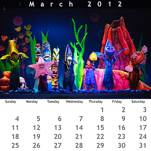 March 2012 Jewel Case Calendar