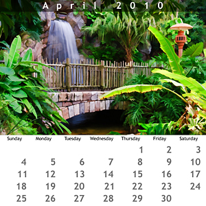 April 2010 Jewel Case Calendar
