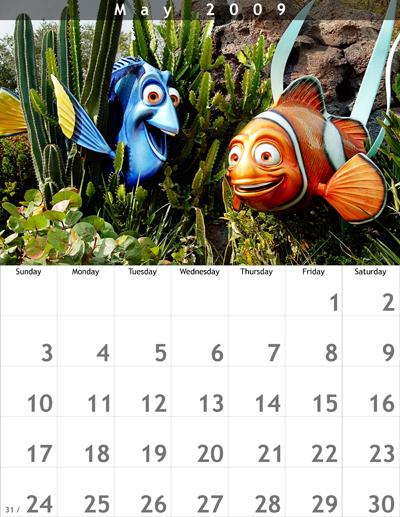 May 2009 8.5x11 Calendar