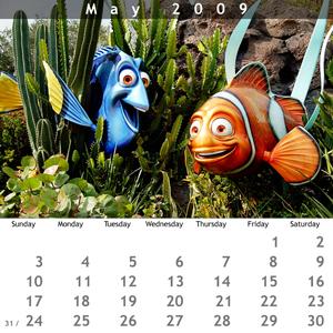 May 2009 Jewel Case Calendar
