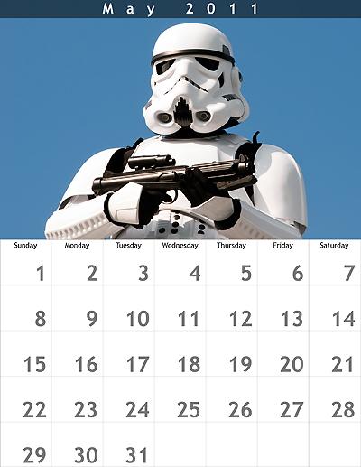 May 2011 8.5x11 Calendar