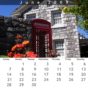 June 2009 Jewel Case Calendar
