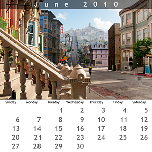 June 2010 Jewel Case Calendar