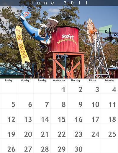 June 2011 8.5x11 Calendar
