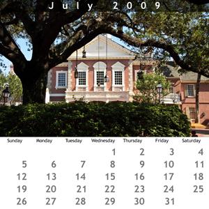 July 2009 Jewel Case Calendar