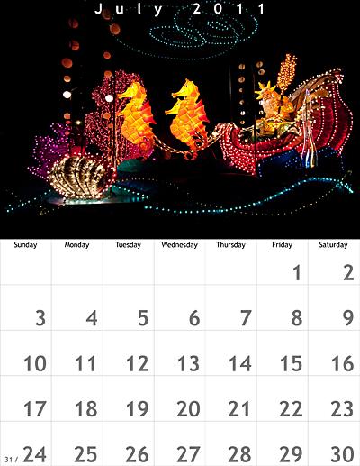 July 2011 8.5x11 Calendar