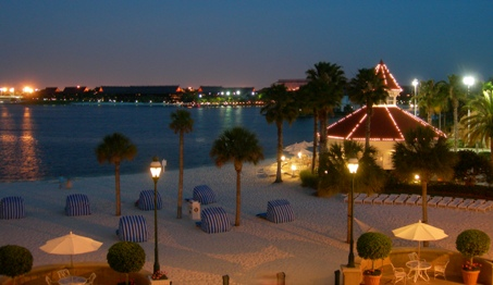 Grand Floridian Beach Chairs at Night