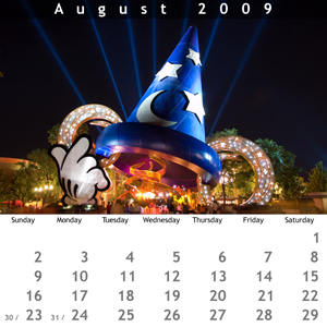 August 2009 Jewel Case Calendar