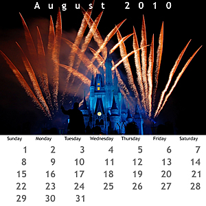 August 2010 Jewel Case Calendar