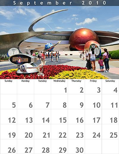 September 2010 8.5x11 Calendar