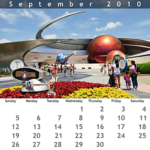September 2010 Jewel Case Calendar