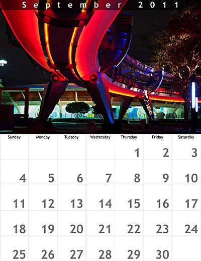September 2011 8.5x11 Calendar