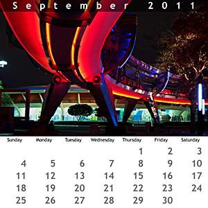September 2011 Jewel Case Calendar