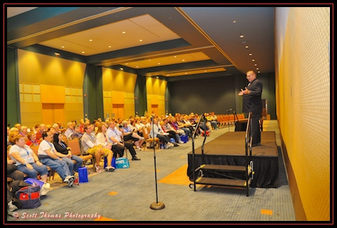 Jim Korkis entertaining a room full of All Ears guest at the Contemporary Resort, Walt Disney World, Orlando, Florida