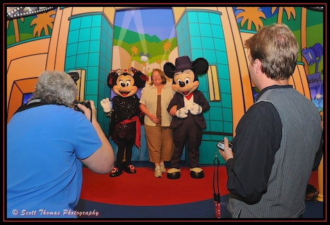 Barrie doing PhotoPass duty at A Night of Sweet Bites and Street Lights meet in Disney's Hollywood Studios, Walt Disney World, Orlando, Florida