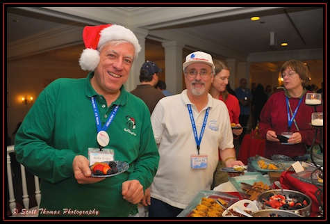 AllEars.net team members Mike Scopa and Jack Marshall enjoying delicious desserts at Epcot, Walt Disney World, Orlando, Florida