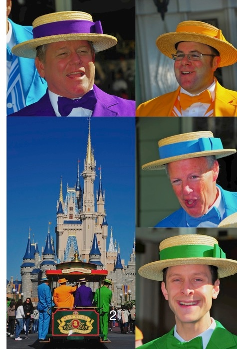 The Dapper Dans on Main Street USA in the Magic Kingdom, Walt Disney World, Orlando, Florida.