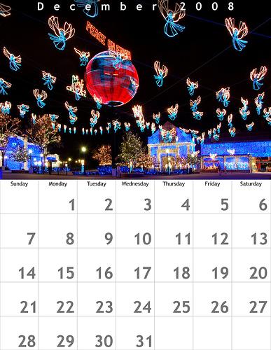 December 2008 8.5x11 Calendar