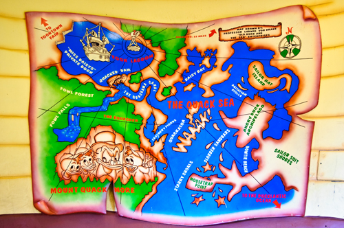 Map from Donald Duck's Boat in the Magic Kingdom