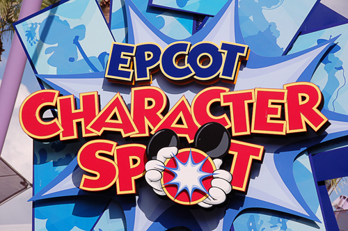 Epcot Character Spot Sign at Walt Disney World