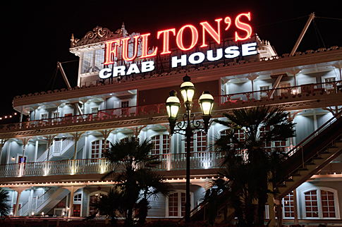 Fulton's Crab House at Night