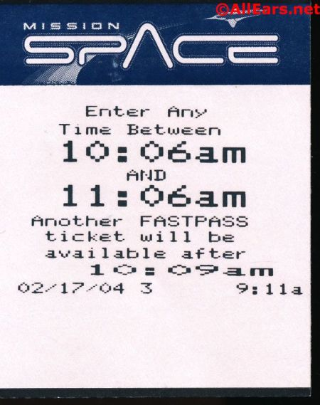 Mission: Space FastPass